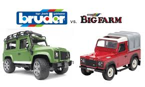 Big Farm Vs Bruder: Toy Land Rover Defenders - Toy Farmers