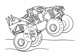 Monster Trucks Printable Coloring Pages Easy Truck Big Lovely ... Coloring Pages Monster Trucks With Drawing Truck Printable For Kids Adult Free Chevy Wistfulme Jam To Print Grave Digger Wonmate Of Uncategorized Bigfoot Coloring Page Terminator From Show For Kids Blaze Darington 6 My Favorite 3