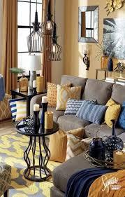 wohnzimmer blau und braun gelb 28 beste ideen gelbes