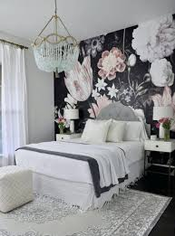 schöne tapete für wände schlafzimmer bett möbel weiß zimmer