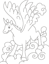 Realistic Flying Unicorn Coloring Pages 2648694