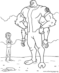 Gwen Tennyson And Four Arms Coloring Page