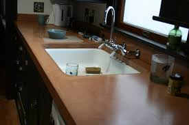 Undermount Kitchen Sinks At Menards by Agreeable Brown Color Kitchen Concrete Countertops Features White