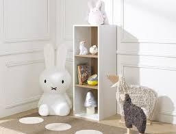 bibliothèque chambre bébé bibliothèque cube de rangement 3 cases blanc