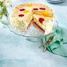 mango himbeer torte mit weißer schokolade