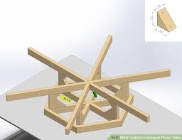 how to build a hexagon picnic table with pictures wikihow