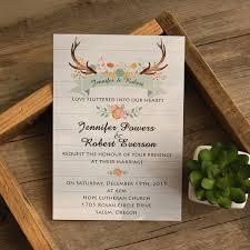 Antler Bohemian Rustic Wedding Invites IWI347