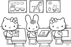 Hello Kitty Back To School Coloring Page Printable Click The Pages Kids For Sunday