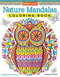 Nature Mandalas Coloring Book Design Originals