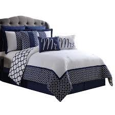 Bed Skirts Queen Walmart by Mr U0026 Mrs 9 Pc Reveresible Comforter Set Queen Walmart Com