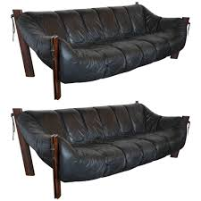 Percival Lafer Brazilian Leather Sofa by Mid Century Brazilian Sofas By Percival Lafer U2013 Pair