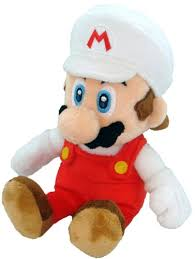 amazon com super mario plush 8 fire mario soft stuffed plush