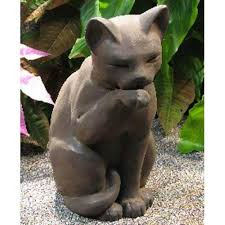 cat garden statue outdoor cat statuary bellacor