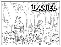 Daniel Lions Den Coloring Page