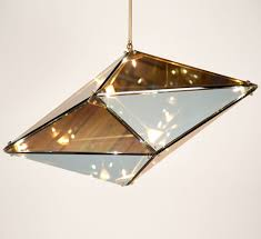 Modern Simple Diamond Glass Chandelier