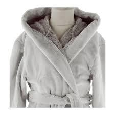 robe de chambre polaire enfant peignoir polaire enfant ares grège blancollection