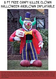 Halloween Airblown Inflatables by 8 Ft Free Candy Killer Clown Halloween Airblown Inflatable My