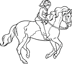Horseback Riding Coloring Pages 8 Boy Horse