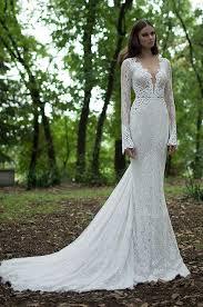 Beautiful Long Wedding Dresses Berta Winter 2014 Lace Dress With Sleeves