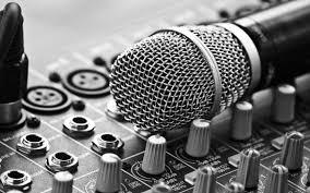 Music Studio Cool Black White Microphone Jqdzzgw Wall Poster Paper