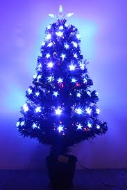6ft Christmas Tree by The Black Blue Star Fibre Optic Tree