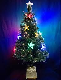 Tabletop Fibre Optic Christmas Tree by Multi Colour With Led Star Decorations Fibre Optic Tree 91cm