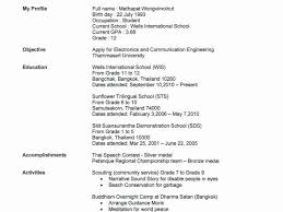 Resume For Beginners With No Experience From Free Templates Students Work