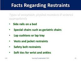 Are Geri Chairs Restraints by Safety Measures And Considerations When Applying Restraints Ppt