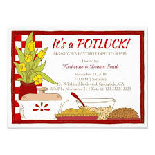 Halloween Potluck Invitation Templates by Potluck Party Dinner Or Lunch Birthday 4 5 6 25 Paper Invitation