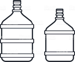 Big plastic bottle with water Line icon royalty free big plastic bottle with