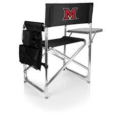 Sports Chair - Black (Miami U Red Hawks) Embroidered Custom Director Chairs Qasynccom Directors Chair Tall Barheight Printed Logo Folding Personalized Beach Groomsman Customizable Made Ideal Low Price Embroidered Sports With Side Table Designer Evywherechair Sunbrella Seats Backs Embroidery Amazoncom Personalized Black Frame Toddlers Embroidered Office And Desk Chairs For Tradeshows Gobig Promo Apparel
