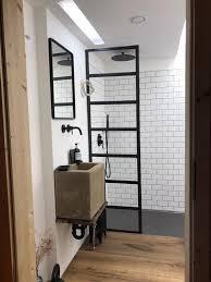 bad industrial style kleines bad mit dusche