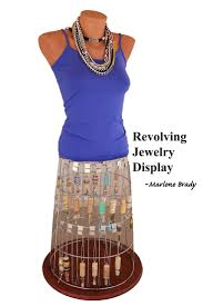 Marlene Brady Created This Awesome Upcycled Revolving Jewelry Display Out Of A Broken Wire Laundry Hamper And Part Mannequin