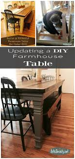 Diy Farmhouse Table From Existing Art Is Beauty How To Build Your Own