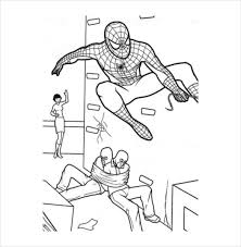 Spider Man At Best Coloring Page PDF Free Download