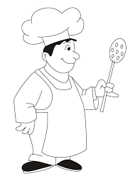 Chef wearing apron coloring pages