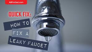 fixing leaky faucet handle fix how to fix a leaky faucet all pro all pro
