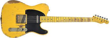 Nash T 52 Butterscotch Blonde Heavy Relic W 1 Ply Black Pickguard