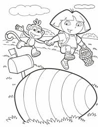 Coloring Pages Dora The Explorer Printable Kids
