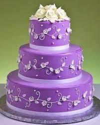purple birthday cakes Google Search Mums 50th Pinterest