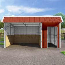 loafing shed kits oklahoma barn or loafing shed building kits
