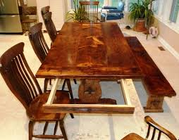 Cool Dining Table Leaf Lovely Wood With Awesome Solid Wildwoodstum Seat 12 Stored Inside Or That