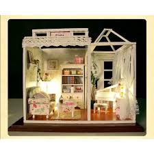Cheap Wooden DIY Handmade SelfAssemble Dollhouse Mini House PH004