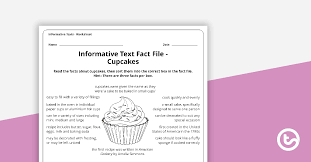 Informative Texts Writing Task