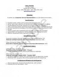 Objective For Call Center Resume