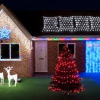 Accessories And Furniture Charming Led Hanging Christmas Lights Outside Tree