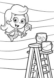 Painting Bubble Guppies Coloring Pages Molly