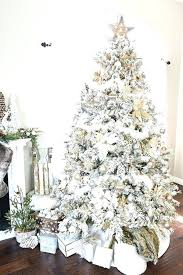 Michaels Xmas Trees How To Decorate A Flocked Gold And Silver Winter Wonderland Pencil
