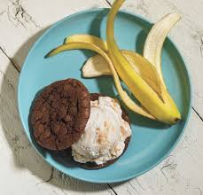 Here Comes Summer: Chocolate Bananas Foster Ice Cream Sandwiches