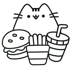 Cute Unicorn Coloring Pages Colouring To Fancy Print Fresh Kawaii Cat Draw Within